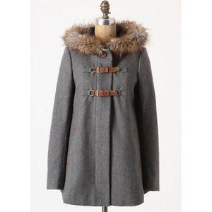 Wool coat parka
